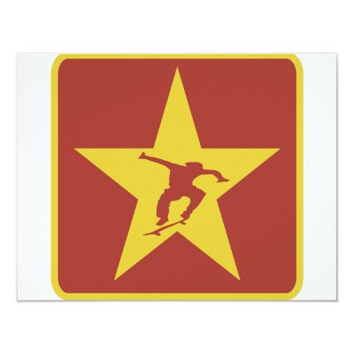 The Star of the Revolution 4.25x5.5 Paper Invitation Card