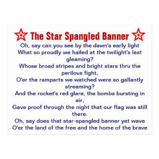 The Star Spangled Banner postcard