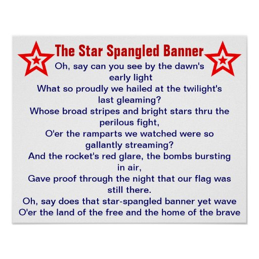 The Star Spangled Banner Poster Zazzle