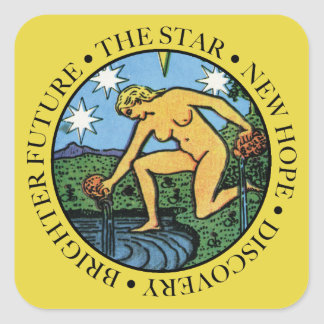 The Star Sticker with Text