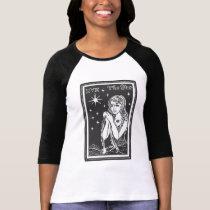 The Star Tarot Card Art Women's Raglan T-Shirt