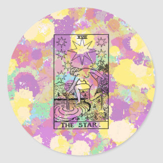 The Star Tarot Card Classic Round Sticker