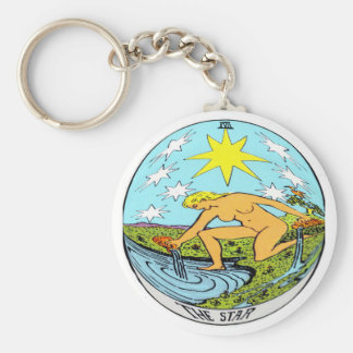 The Star Tarot Card Keychain