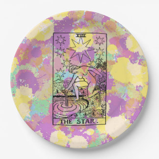 The Star Tarot Card 9 Inch Paper Plate