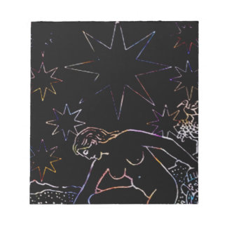 The Star Tarot Party Black Memo Note Pads