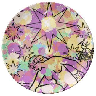 The Star Tarot Party Porcelain Plates