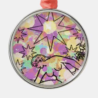 The Star Tarot Party Metal Ornament