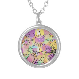 The Star Tarot Party Silver Plated Necklace