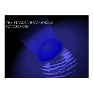 THE STARDRIVE WORMHOLE POSTER