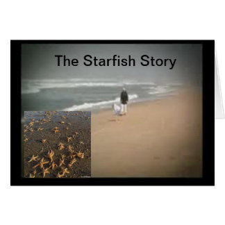 The Starfish Story Greeting Card