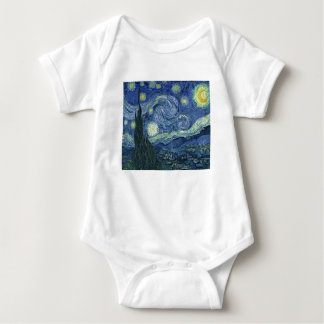 The Starlight night of Van Gogh (The Starry Night) Baby Bodysuit