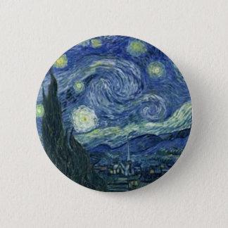 The Starlight night of Van Gogh (The Starry Night) Button
