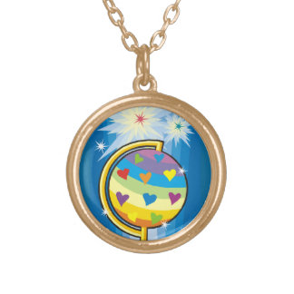 The Starry Globe - Gold Plated Necklace