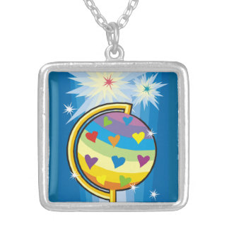 The Starry Globe - Silver Plated Necklace