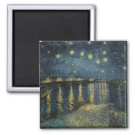 The Starry Night, 1888 2 Inch Square Magnet