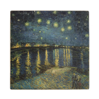 The Starry Night 1888 2 Wood Coaster