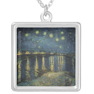 The Starry Night, 1888 Square Pendant Necklace