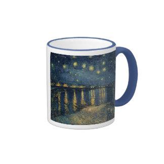 The Starry Night, 1888 Ringer Coffee Mug