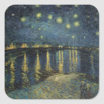 The Starry Night, 1888 Square Stickers