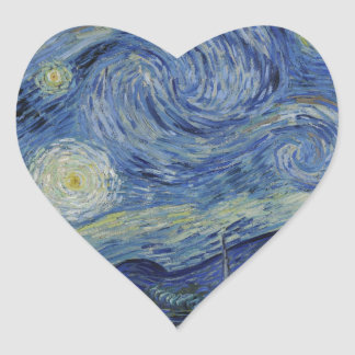 The Starry Night, 1889 by Vincent van Gogh Heart Sticker