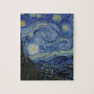 The Starry Night 1889 by Vincent van Gogh Puzzle