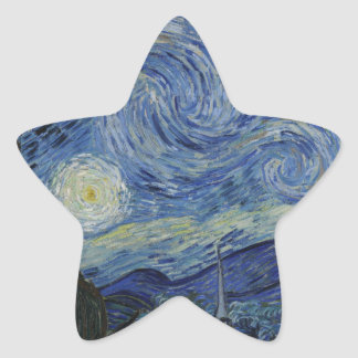 The Starry Night, 1889 by Vincent van Gogh Star Sticker
