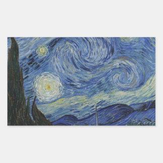 The Starry Night, 1889 by Vincent van Gogh Rectangular Sticker