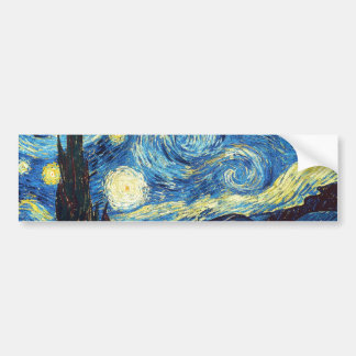 The Starry Night Bumper Sticker