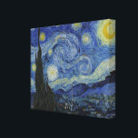 """The Starry Night by Van Gogh Canvas Print<br><div class=""""desc"""">About the Work The Starry Night Starry Night (Dutch: De sterrennacht) is a painting by the Dutch post-impressionist artist Vincent van Gogh. Painted in June 1889, it depicts the view outside of his sanitarium room window at Saint-R&#233;my-de-Provence (located in southern France) at night, although it was painted from memory during...</div>"""
