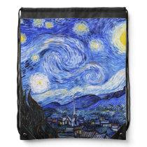 The Starry Night by Van Gogh Drawstring Bag