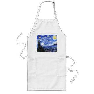 The Starry Night by Van Gogh Long Apron