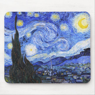 The Starry Night by Van Gogh Mouse Pad