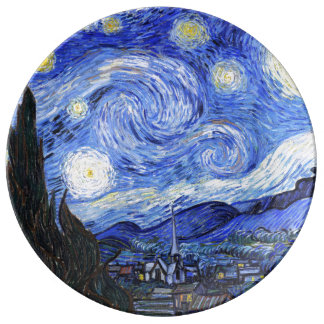 The Starry Night by Van Gogh Porcelain Plate