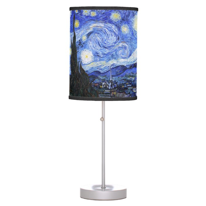 The Starry Night By Van Gogh Table Lamp Zazzle Com