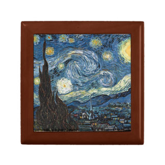 The Starry Night by Van Gogh Trinket Boxes