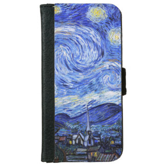 The Starry Night by Van Gogh Wallet Phone Case For iPhone 6/6s