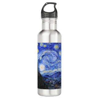 The Starry Night by Van Gogh Water Bottle