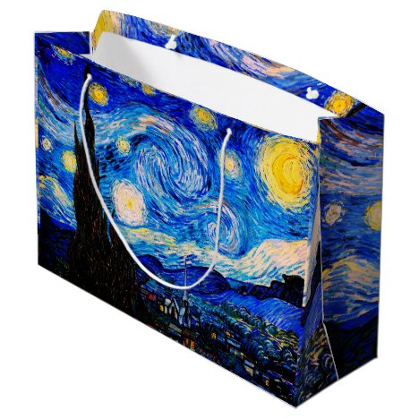 The Starry Night by Vincent Van Gogh Large Gift Bag