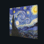 """The Starry Night Canvas Print<br><div class=""""desc"""">The Starry Night by Vincent van Gogh,  1889.</div>"""