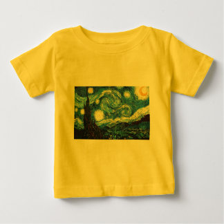 The Starry Night (De sterrennacht) - Van Gogh Baby T-Shirt