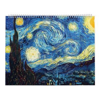 The Starry Night De sterrennacht - Van Gogh Wall Calendar