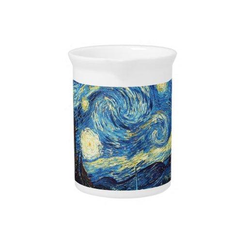 The Starry Night (De sterrennacht) - Van Gogh Drink Pitcher