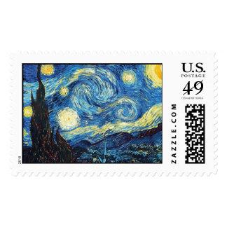 The Starry Night (De sterrennacht) - Van Gogh Postage