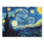 The Starry Night (De sterrennacht) - Van Gogh Postcard