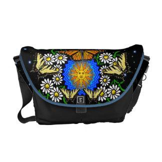 The Starry Night Garden Messenger Bag