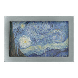 The Starry Night, June 1889 (oil on canvas) Rectangular Belt Buckles
