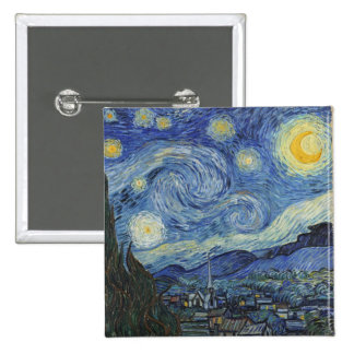 The Starry Night June 1889 oil on canvas Pin