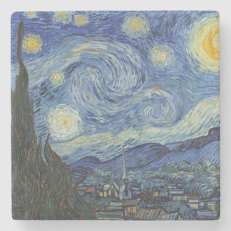 The Starry Night, June 1889 (oil on canvas) Stone Coaster