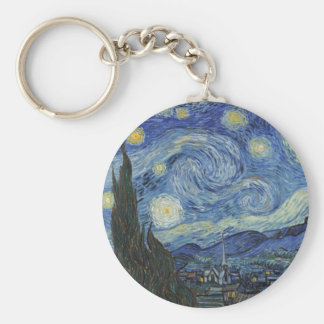 The Starry Night, June 1889 (oil on canvas) Keychains