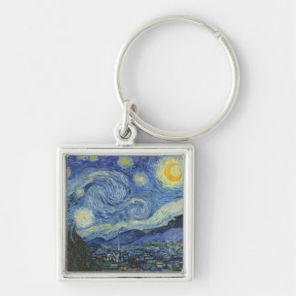 The Starry Night, June 1889 (oil on canvas) Keychain